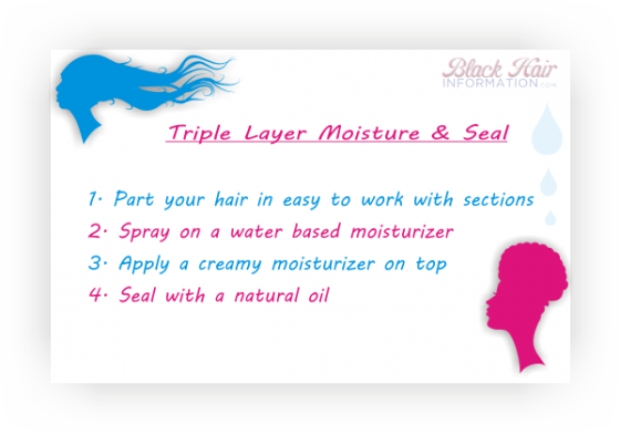 Triple Layer Moisture and seal method