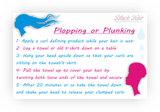 How To Do The Plopping Or Plunking Technique On Your Hair