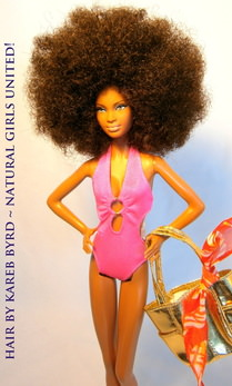 Afro Glam Beach Doll