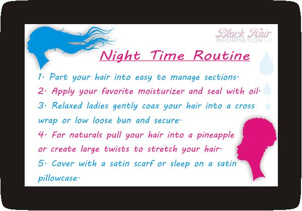 Back to basics nighttime hair routine