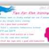 newsletter tips for flat ironing