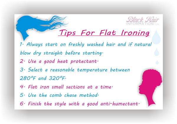 newsletter tips for flat ironing
