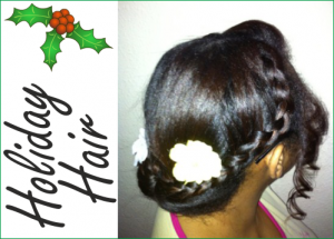 Holiday hair bun