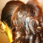 Roller set ponytail