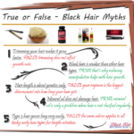 True Or False – Black Hair Myths – BHI Postcard Tips