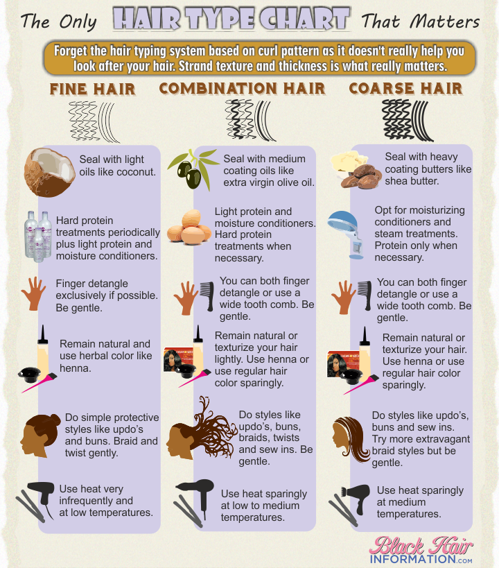 The only hair type chart that matters infographic