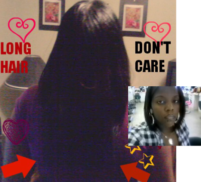 Amara's waist length texlaxed hair