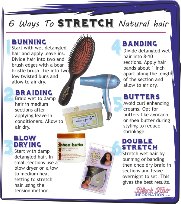 6 ways to stretch natural hair
