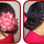 A Braided Bun Hairstyle Tutorial For Valentines Day