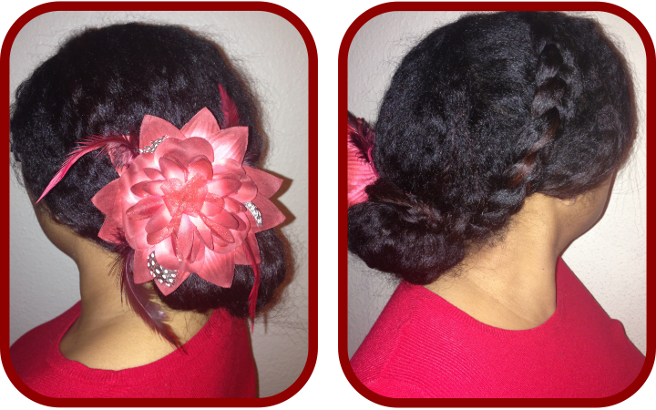 Valentines Hairstyles: A Braided Bun Hairstyle Tutorial For Valentines Day