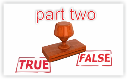 True false part two