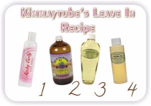 Kimmaytube's Leave In Conditioner Recipe