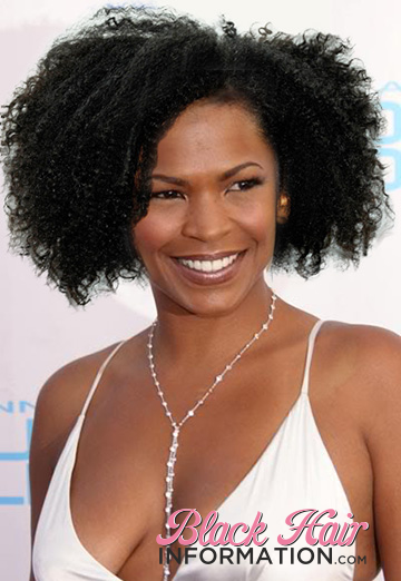 celebrity natural hair styles want to see what would look like with 7492 | Nia long with natural hair