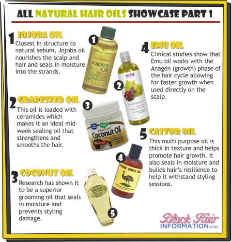 PCT - All natural hair oils showcase part 1