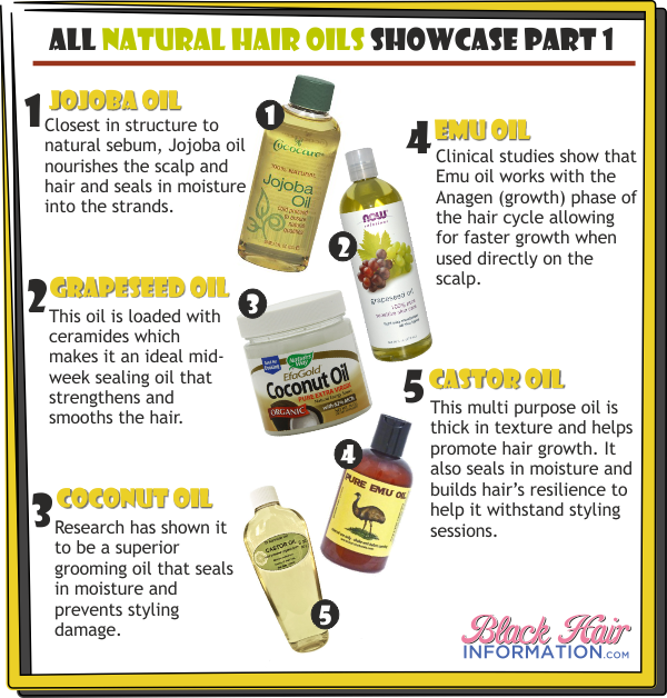 All Natural Hair Oils Showcase Part 1