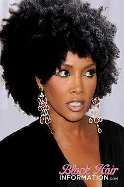 Vivica Fox with natural hair