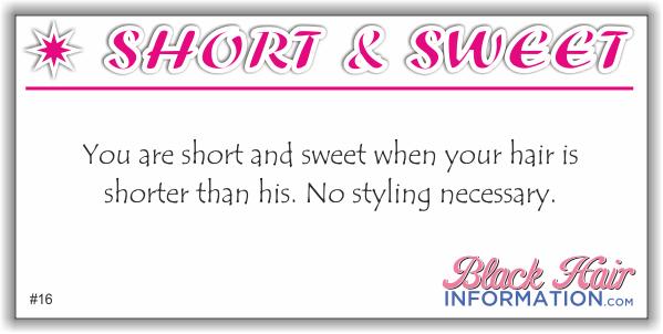 short & sweet 16