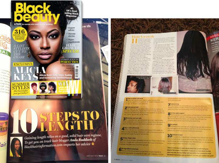 BHI feature in black beauty and hair magazine