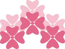 Pink flowers t shirt design