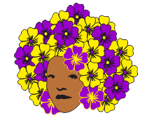 Flowery summery afro t-shirt design
