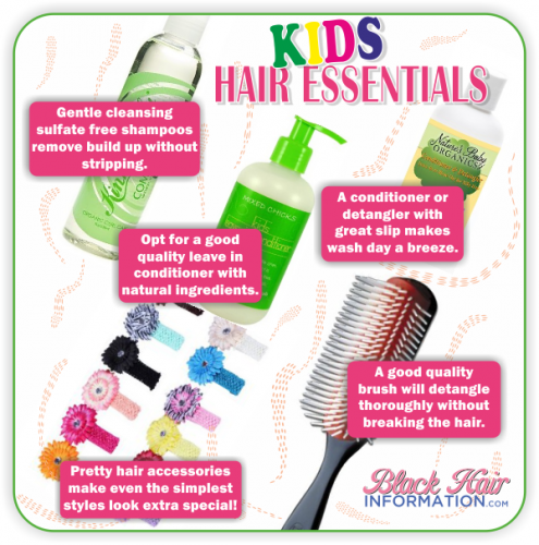 Postcard tips - kids hair essentials