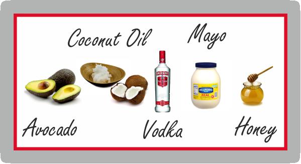 Prepoo avocado coconut oil vodka mayonnaise & honey