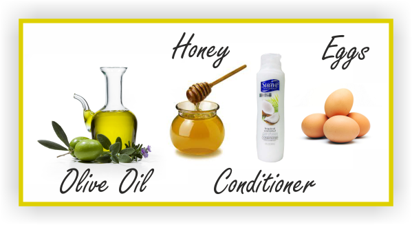 Prepoo olive oil honey conditioner and eggs
