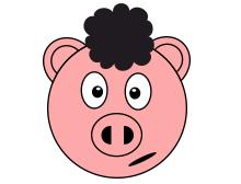 Afro piggy t-shirt design