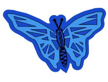 Butterfly t shirt design