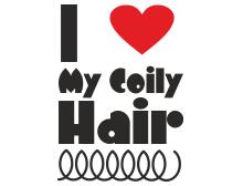I love my coily hair t shirt design