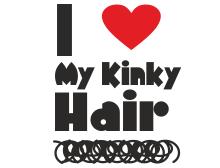 I love my kinky hair t shirt design