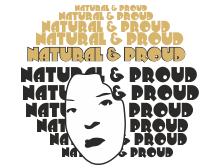 Natural and proud t-shirt design