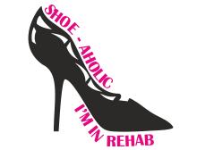 Shoe-aholic im in rehab t-shirt design