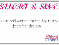 Short And Sweet – Rain