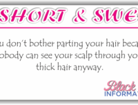 Short And Sweet – Parting Your Hair