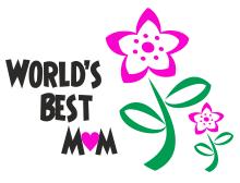 Worlds best mum t shirt design