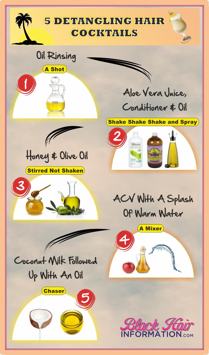 5 detangling hair cocktails