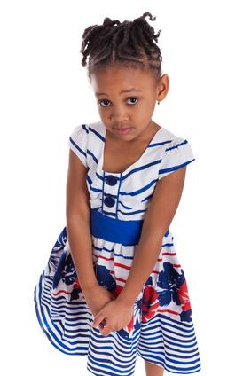 Portrait of a cute little african american girl