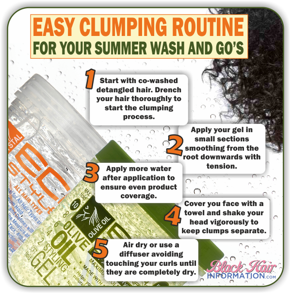 Easy Clumping Routine For Your Summer Wash And Go's