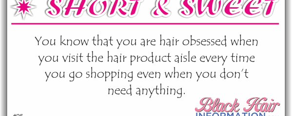 Short And Sweet – Hair Product Aisle