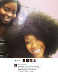 Finally! We Get To See Brandy's Natural Hair