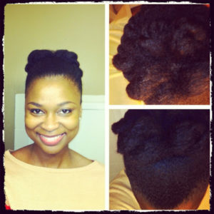 Shelly From Glam Natural Life elegant bun
