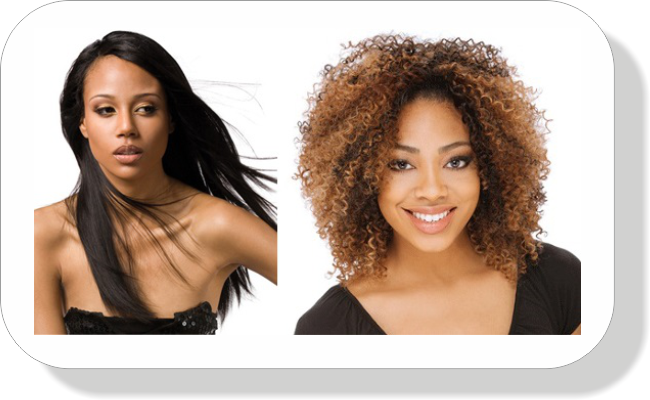 Curly and straight weaves protective styles