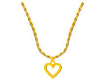 Gold heart pendant t-shirt design