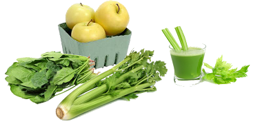 green juice vegetables and fruit