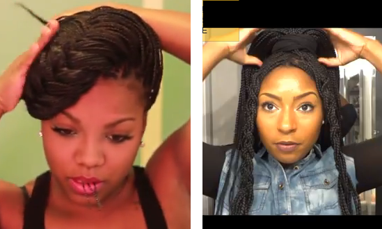 styling box braids