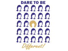 Dare to be different t-shirt design