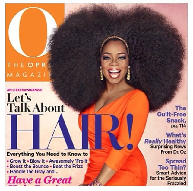 Oprah Rocks A 3.5lb Afro Wig For The Cover Of O Magazine