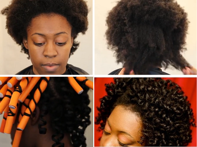 Wondrous Stretch 4C Hair With Flexi Rods Tutorial Black Hair Information Hairstyles For Men Maxibearus