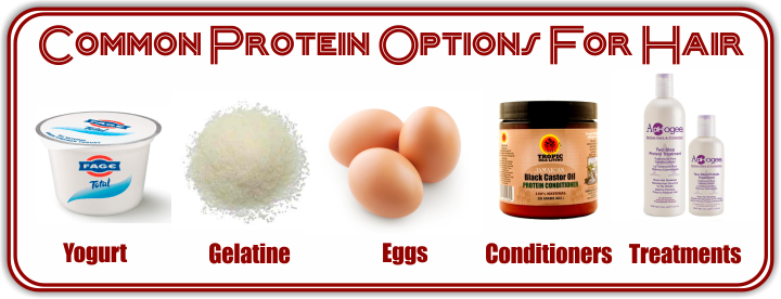 Common protein options for hair